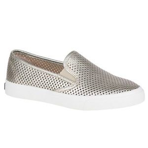 Sperry Seaside slip-on sneakers   gold/pewter 9.5